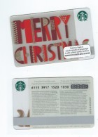 Starbucks Card - Mexique/Mexico - Merry Christmas - 6115 Mint Pin - Gift Cards