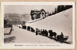 X39158 Edition Libraire Ch. PAGET MOREZ-JURA Avenue De La GARE Départ En Traineaux Pour Le Train 1890s PARFAIT-MINT - Morez