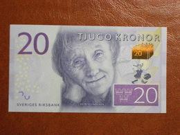 Suède - Billet De 20 Kronor - Astrid Lindgren - Neuf - Non Daté (2015) - Suède