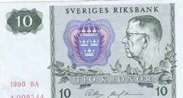 Suède - Billet De 10 Kronor - Gustav VI Adolf - 1990 - Sweden