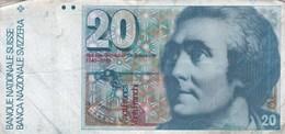 Suisse - Billet De 20 Francs - Horace-Bénédict De Saussure - Non Daté - Suisse