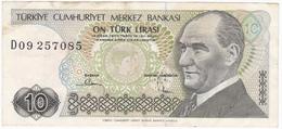 Turquie - Billet De 10 Lira - 14 Janvier 1970 - Turquie