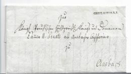 WTB198 /  WÚRTTEMBERG - Brief, GREIILSHEIM R. 3, Sauberer Abschlag 1808, Mit Briefinhalt - Duitsland