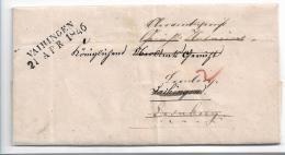 WTB199/  WÚRTTEMBERG - Brief, VAIHINGEN  (schwar) 1846, 2-fach Verwendet - Duitsland