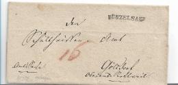 WTB203 /   WÚRTTEMBERG - Brief, Künzelsau, Einzeiler (schwarz) 1827 - Duitsland