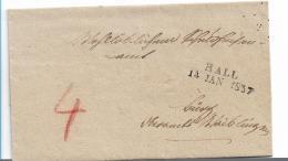 WTB205 /  WÚRTTEMBERG -  Brief,  HALL  1837, Briefhúlle - Duitsland