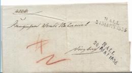 WTB206 / WÚRTTEMBERG  -   Brief,  HALL 1836, 2 X Verwendet - Duitsland