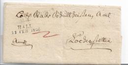 WTB207 / WÚRTTEMBERG -   Brief,  HALL 1826, Voller Textinhalt - [1] Préphilatélie