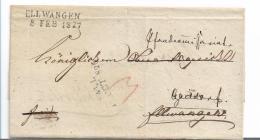 WTB208 /  WÚRTTEMBERG -  Brief,  HALL 1826, Ellwangen 1827 - Duitsland