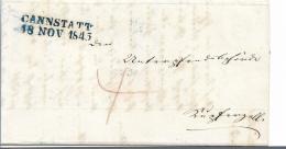 WTB209 /   WÚRTTEMBERG - Brief,  CANNSTATT Blau) 1843 - Duitsland