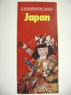 Farbenfrohes JAPAN - Das Ideale Ferienland - Klapp Faltblatt, 12 Seiten, Fotos - Asia & Near-East