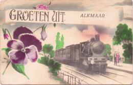 ALTE  AK  ALKMAAR / Niederl.  - Gruss Aus Mit Eisenbahn- 1923 Gelaufen - Alkmaar