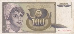 Yougoslavie - Billet De 100 Dinara - 1991 - Yugoslavia