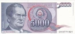 Yougoslavie - Billet De 5000 Dinara - Josip Broz Tito - 1er Mai 1985 - Neuf - Yugoslavia