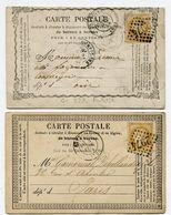 SEINE ET OISE De PONTOISE GC 2974 Sur N°59 Sur 2 CP De 1873 Et 1874 - 1849-1876: Klassieke Periode