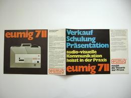 EUMIG 711 - Projektor - Technische Daten, Fotos, 6 Seiten - Projecteurs De Films