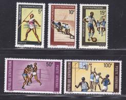 CENTRAFRICAINE N°  115 à 117, AERIENS N° 74 & 75 ** MNH Neufs Sans Charnière, TB (D5543) Sports Divers - Central African Republic