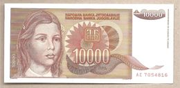 Jugoslavia - Banconota Non Circolata FdS Da 10.000 Dinari P-116a - 1992 - Jugoslavia
