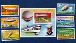 Islamic Martinique 1978 USED Graf Zeppelin LOT OF SEVEN (7) Very Fine - Used Stamps