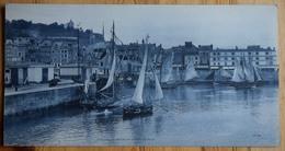 14 : Honfleur - Carte Panorama Format Triple 27,7 X 14,4 Cm - Le Port Et La Côte De Grâce - Bateaux - Honfleur