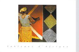 Afrique- (MALI ?) Tableaux D'Afrique (métier Tissage) (Sacko Moussa 4109 Photo Courtney-Clark (Hoa-Qui) )*PRIX FIXE - Mali