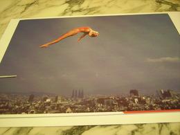 PHOTOGRAPHIE PLONGEUSE TRACEY MILES  JO DE BARCELONE 1992 - Swimming