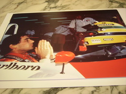 PHOTOGRAPHIE AYRTON SENNA CIRCUIT MAGNY COUR 1991 - Automobile - F1