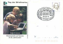 I38  Informatique, Internet: PAP D'Allemagne, 2000 - Computer, Internet Stationery Cover With Pict. Cancel. Informatics - Informatik
