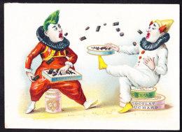 CHROMO Chocolat SUCHARD   +/- 1890         Serie 16   Clowns      Trade Card - Suchard