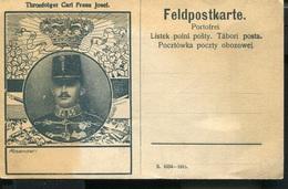 AUSTRIA WWI  ILLUSTRATED FELDPOST CARD THRONFOLGER CARL Franz Josef - Sonstige