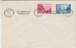 """Argentina 1971 Antarctica """"La Soberania Argentina En Malvinas Es Irrenunciable"""" Cover (37787) - Postzegels"""