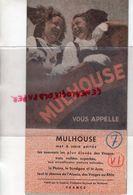 68- MULHOUSE- RARE DEPLIANT TOURISTIQUE 1949-LISTE HOTELS TARIFS- IMPRIMERIE RUGE FRERES- - Dépliants Touristiques