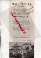 68- MULHOUSE- DEPLIANT TOURISTIQUE SYNDICAT INITIATIVE-GARE- HOTELS-1948- IMPRIMERIE LEBOIS -BAR SUR AUBE - Dépliants Touristiques