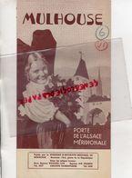68- MULHOUSE- RARE DEPLIANT TOURISTIQUE SYNDICAT INITIATIVE-AIR FRANCE-WAGONS LITS-SNCF-1947-LISTE HOTELS+ PLAN - Dépliants Touristiques