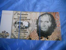 Allemagne - Reproduction Et Interpretation Du Billet De 1.000 Deutsche Mark En Trois Cartes Postales - Germany