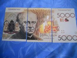 Belgique - Reproduction Et Interpretation Du Billet De 5.000 Mille Francs Belges En Trois Cartes Postales - Otros