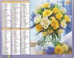 Calendrier Du Facteur 2017 - Bouquets De Fleurs . Photos Simon Kayne - Calendars