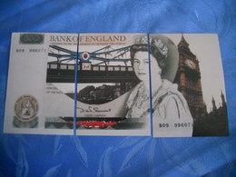 Grande Bretagne - Reproduction Et Interpretation Du Billet De 50 Livres En Trois Cartes Postales - Altri