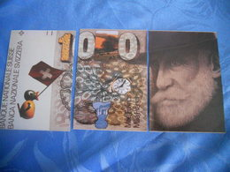 Suisse - Reproduction Et Interpretation Du Billet De 1.000 Francs Suisses En Trois Cartes Postales - Suiza