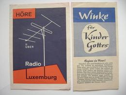 Höre über RADIO LUXEMBURG - Winke Für Kinder Gottes - Rundfunkplan Januar 1971, Missionwerk - Radio & TSF