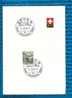 Switserland -  Blatt Mit Sonderstempel / 10.04.1954 - Gryon - Marcophilie