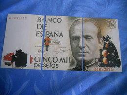 Espagne - Reproduction Et Interpretation Du Billet De 5.000 Pesetas En Trois Cartes Postales - Espagne