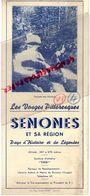 88- SENONES - RARE DEPLIANT TOURISTIQUE ET SA REGION- VOSGES -SYNDICAT INITIATIVE-CASCADE DES CHAVONS- - Dépliants Touristiques