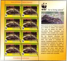 WWF-PHILIPPINE CROCODILE-ILLUSTRATED SHEET#1-PHILIPPINES-SCARCE-MNH-ABOMS-3 - W.W.F.