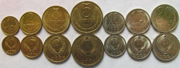 "Russia - Soviet Union Set Of 7 Coins 1987-1991 ""1+2+3+5+10+15+20 Kopeek"" UNC - Russia"
