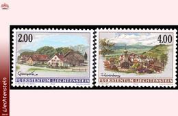 Liechtenstein 1118/19** Villages III  MNH-Faciale: 6 FS - Liechtenstein