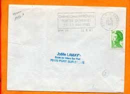 ARMEES, BPM 511, Flamme à Texte, Garnison De Fribourg, Portes Ouvertes, 22-23 Mai 1982 - Sellados Mecánicos (Publicitario)