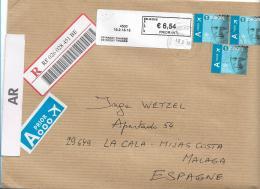 B XL250 / BELGIEN -  Brief In Grossformat, 3 Marken Mit A  (Europa)  + Einschreibezettel - Belgium