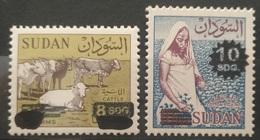 HXSU1 - Sudan 2017 Complete Set 2v. MNH - Revalued 2 Stamps, Surcharged 8D & 10D By Handstamp - Sudan (1954-...)