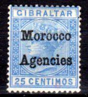 Marocco-(Uff.Brit.)-017 - Emissione Soprastampata Del 1898 (+) LH - Senza Difetti Occulti. - Uffici In Marocco / Tangeri (…-1958)
